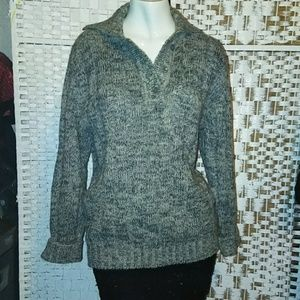 ANNE KLEIN II GREY SWEATER